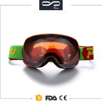 Custom fashion unisex snow ski goggles polarized sports eyewear price