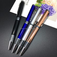 OEM custom good quality import pen ink fill blue black metal ball pen
