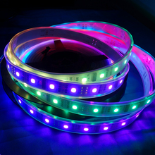 12V 60LED/m 1812 5050RGB Digital Strips 1IC Control 12LED Pixel Strips Dream Magic Color TM1812 LED Strip