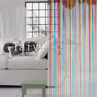 Fancy stripe design home textile window string curtain singapore