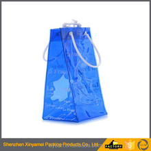 custom pvc pouch waterproof bag , color portable handle transparant pvc plastic ice wine pouch cooler bag,pvc pouch bag