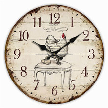 Customer design 12 inch art painting wall clock with logo