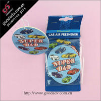 Customized new style promotional air freshener scented paper car aroma