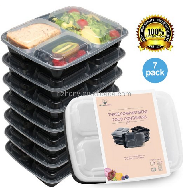 meal prep containers set bento lunch boxes restaurant food storage portion control 7pk. Black Bedroom Furniture Sets. Home Design Ideas