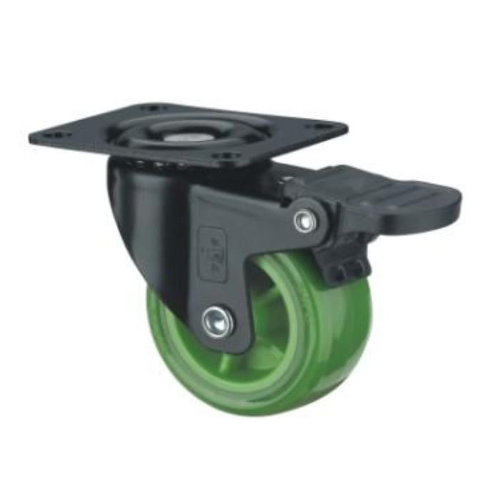 38 44 50 63 75 mm PP PU TPR Light Duty Wheel Casters Industrial Castors