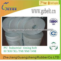 PU Open end black/white S3M industrial timing belt