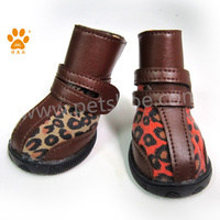 JML high quality red casual shoes for dogs leopard fabric winter durable snow boots