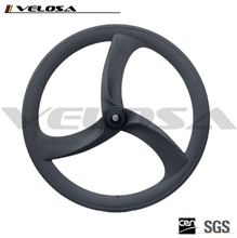 700C Tri spokes clincher wheels carbon Clincher 3 spokes wheelsts for fixed gear & TT bike