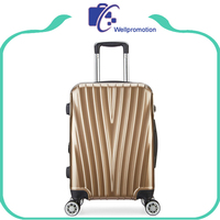 travel house luggage/ABS PC Carry on luggage trolley