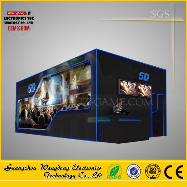 Trailer moving Manufacturer Simulator 5D Cinema With VR Headset Motion Chair