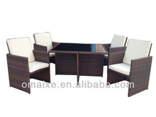 2013 factory hot-sale furniture wicker sofa set poly rattan outdoor furniture rattan weaving material