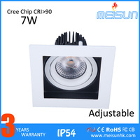 Dimmable led adjustable spotlight CRI80 warm white round fitting square style