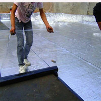 flat self adhesive roofing waterproof membrane
