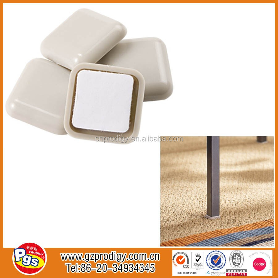adhesive plastic glides / chair leg glides for home furniture / adhesive glider chair covers