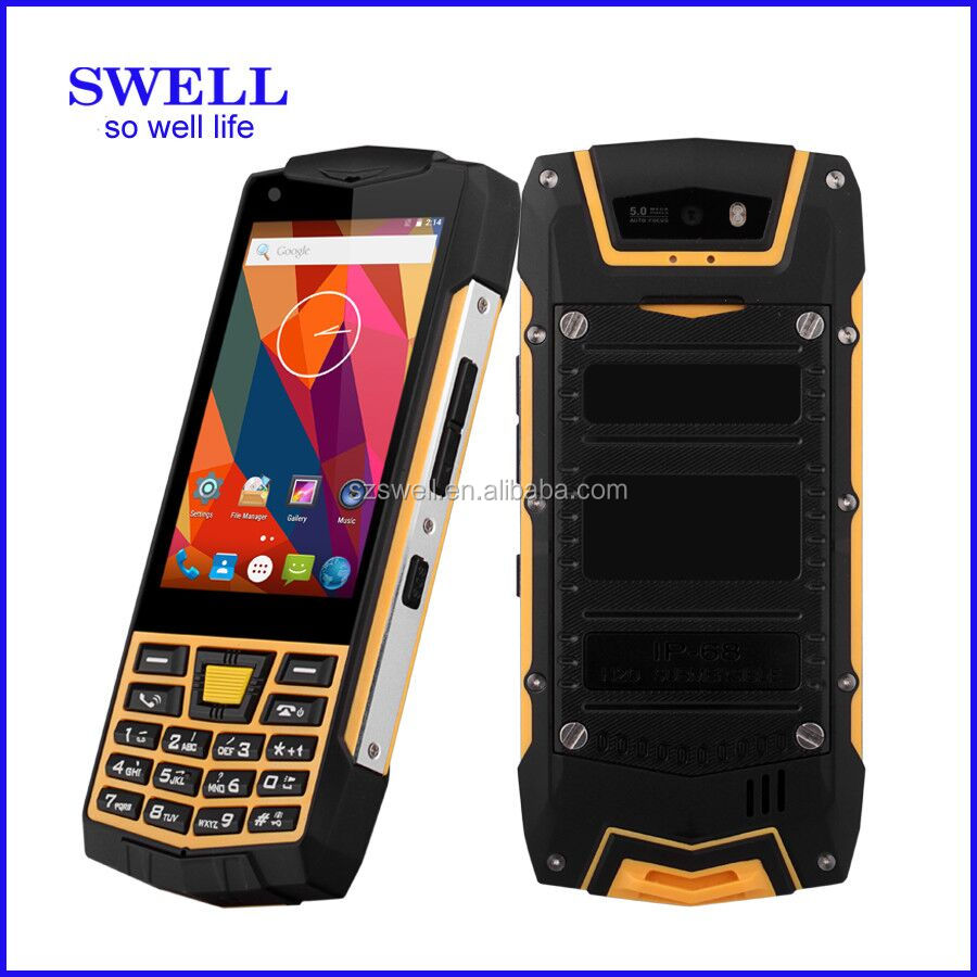 unlocked verizon phones non camera android 6.0 SWELL N2 3g walkie talkie dual sim wifi gsm torch intrinsically safe phone