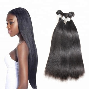 Top Grade Unprocessed Virgin Natural Straight Wave Silky Straight Brazilian Full Cuticle Aligned Remy Human Hair Weave Weft