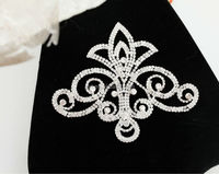 Wholesale french pretty for bling bling handmade crystal rhinestone lace/applique