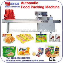 china factory YB-350 automatic pillow type cookies/cake/bread biscuit packing machine horizontal flow/0086-18516303933