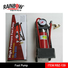 Car Tire Foot Pump With Gauge