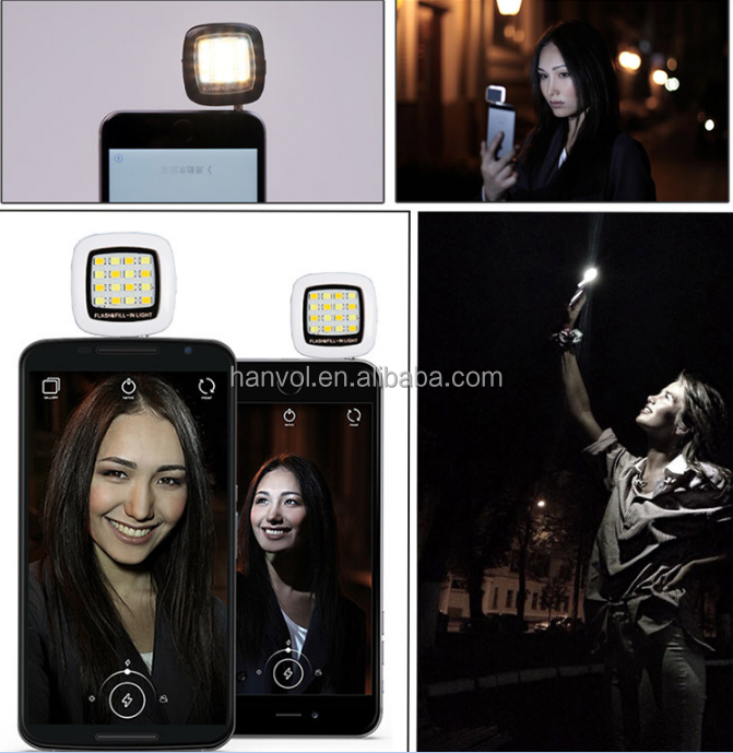 2015 Hot Sale Product 16 LED Selfie Flash Cell Phone Flash Light Led For Smart Phones