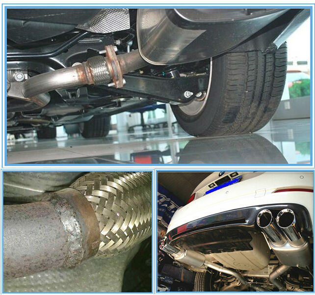 Muffler Stainless Steel Wire Braided Exhaust Pipe For