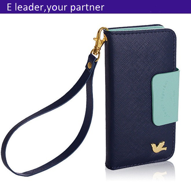 Hot selling bird wallet case for iphone 5