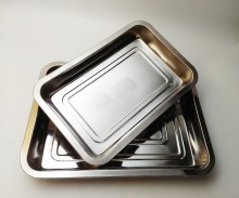 Multifunction good quality stainless steel square steamer tray deep baking food tray rectangular tray