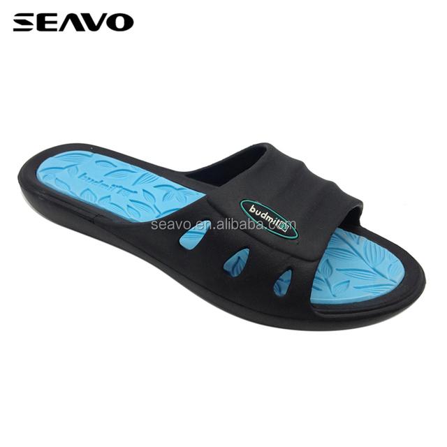 SEAVO SS18 new design double color style custom logo injection eva women slippers