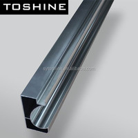 customized aluminum extrusion profile for kitchen cabinet crystal steel door