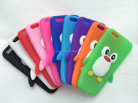 New products 3D Penguin Soft Rubber Silicone Case Skin For iphone 6