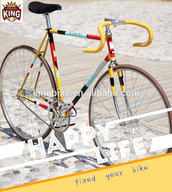 2017 new coming bicycle Huangzhou colorful bulk high quality bikes made in china fixed gear bikes/fixie bicycle