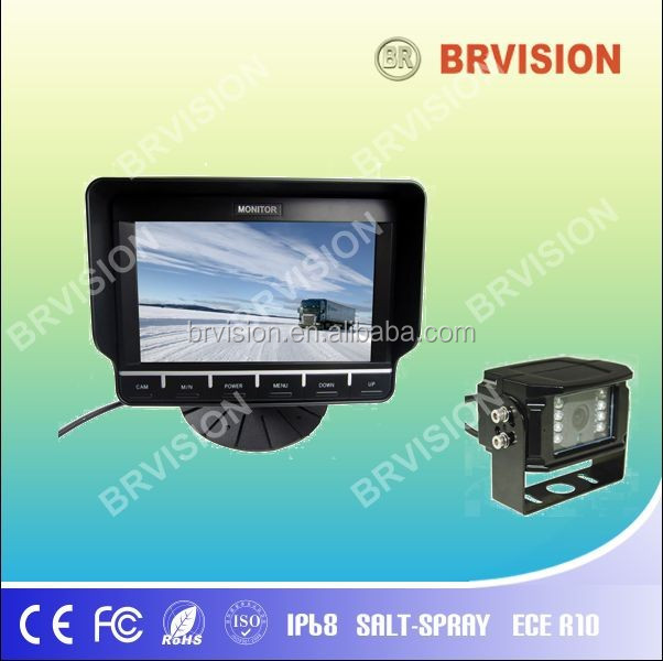 Bus / Truck rear view system 7 inch tft car lcd monitor with rear view camera