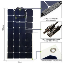 High efficiency thin film 100w 18v 12v bendable sunpower solar panel