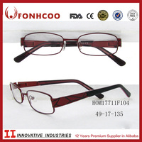 FONHCOO Wenzhou Latest Customer Textural Pattern Fashion Metal Spectacle Optical Frame