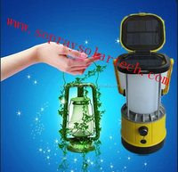 New LED solar camping lantern with fm radio, phone charger