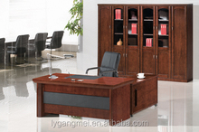 Luxury high tech executive curved wooden office desk