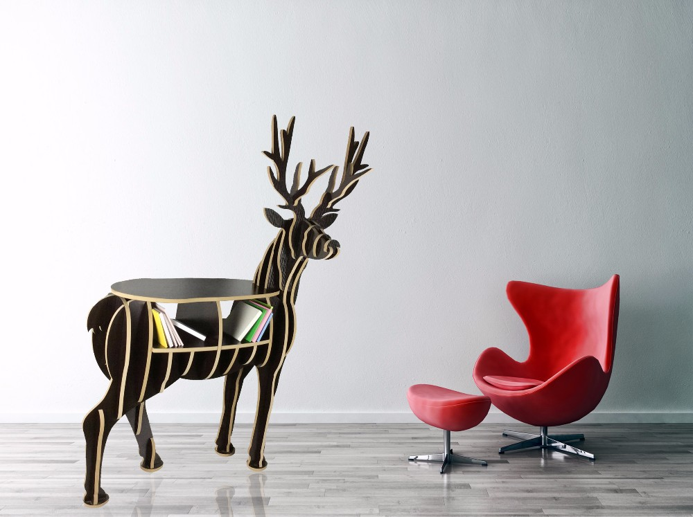 FSC Modern elk wood deer table