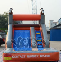 Commercial water slide inflatable water park