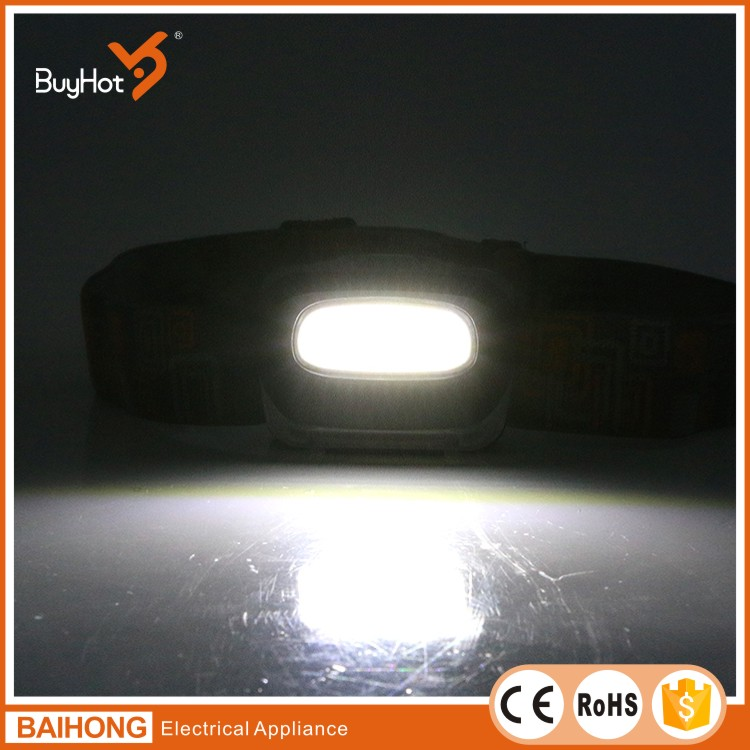 BH-5542 , 120lumen powered by 3*AAA batteries 3W COB led head lamp for camping and cycling