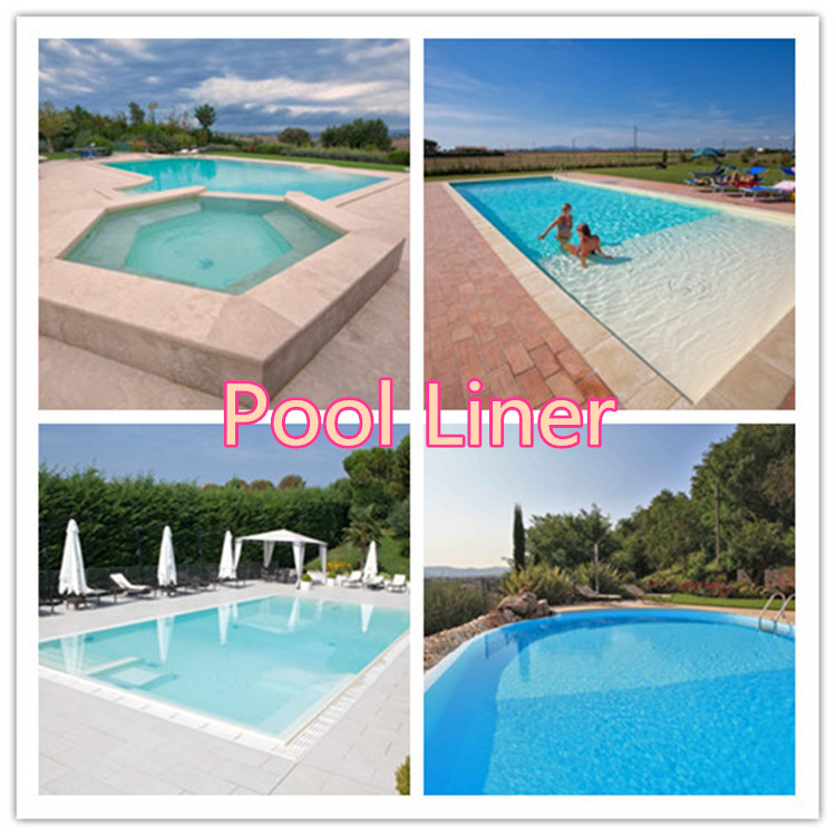 pvc swimming pool liner with two color