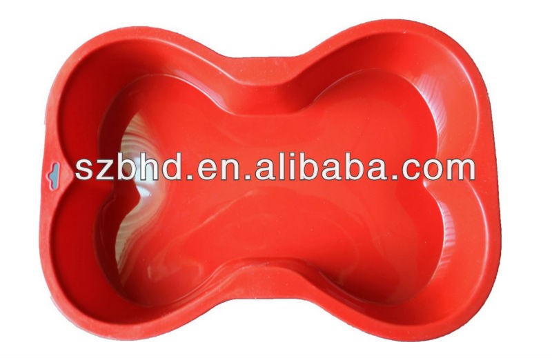 Factory Manufacture Red Dog Bone Silicone Cake Mold on Amazon.com
