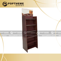 Wood display shelf,free standing display unit for retail store