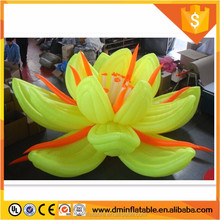 giant wedding decorations retractable inflatable Lotus flower with Led