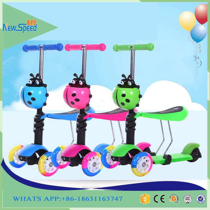 New model high quality three wheels 3 in1 5 in1 child scooter toys for child kids scooter with optional color