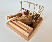 Handmade artificial mechanical rail and wood arm craft
