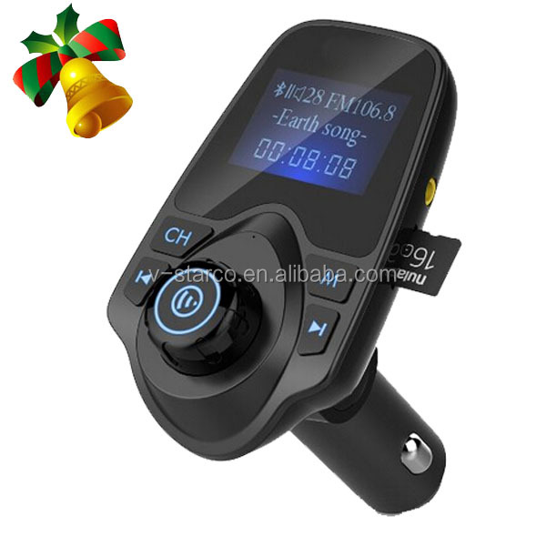 PCS Fashion Portable Dual USB Auto Bluetooth Car Kit Wireless Hands Free Calling MP3 Player FM Transmitter Modulator+Car