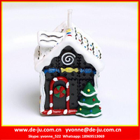 No Dripping Wax Small House With Christmas Tree Candle