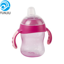 Best seller Multicolor duckbill cup Baby Trainer Cup with straw Wide-mouthed Silicone Baby Bottle Wide mouthed bottle 240ml