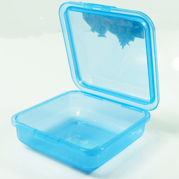 Square Laptop Lunchbox Bento Box Plastic Lunch box Snack With Hinged lid