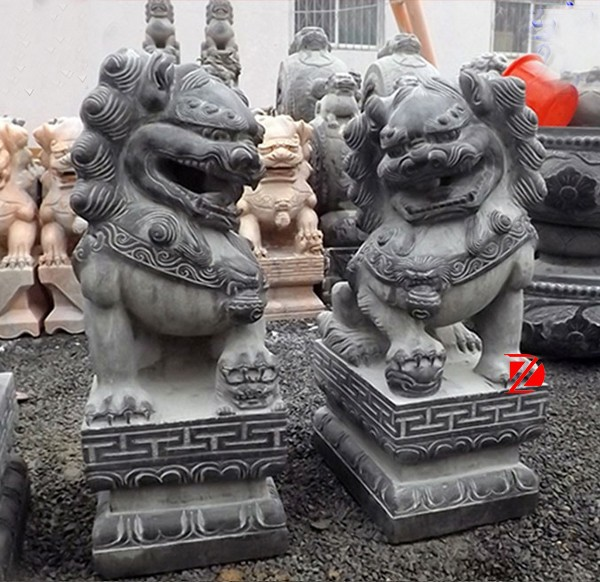 Chinese tradition stone foo dog statues sale in stock